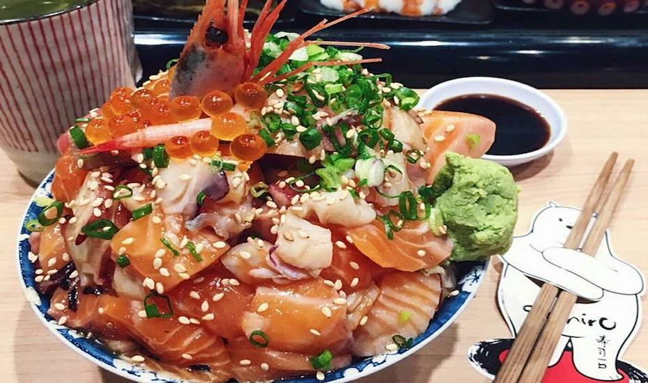 Massive chirashi don at Sushiro