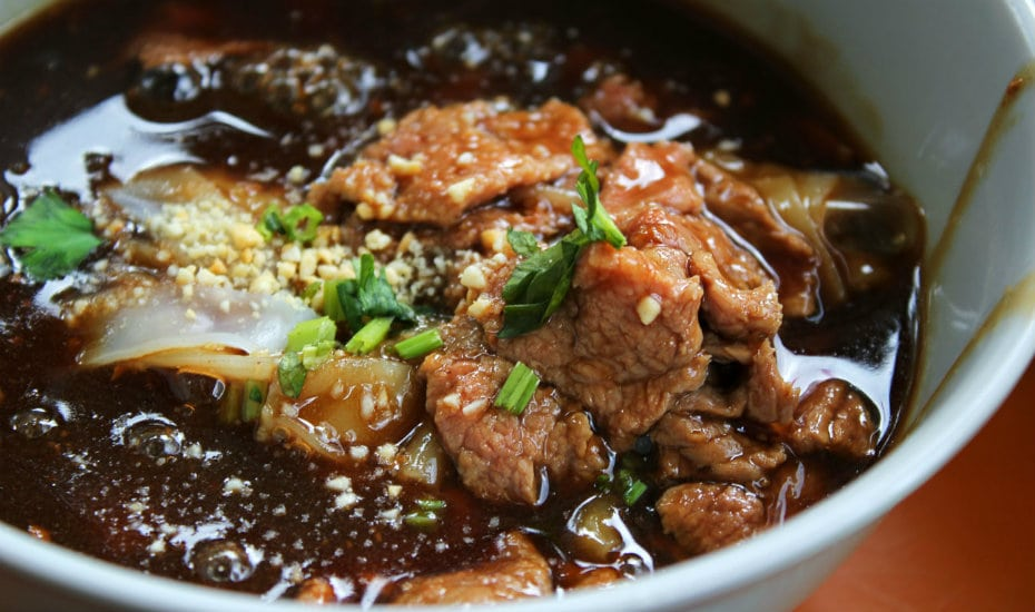 Our personal favourite underrated local dish: the dry version of beef noodles.