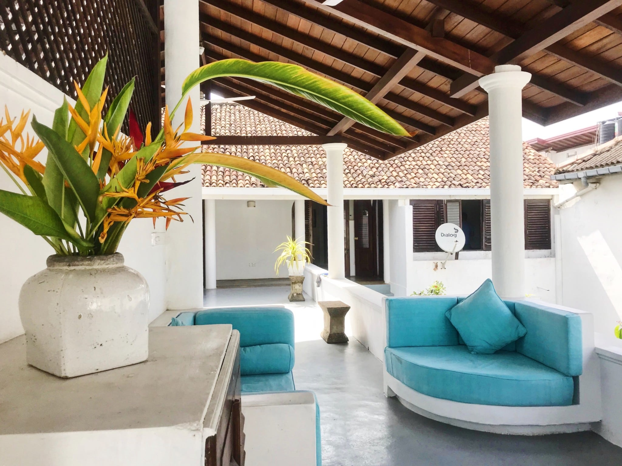 Ambassador's House luxury villa Galle Fort Sri Lanka outdoor lounge