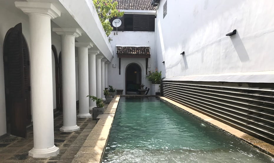 Plunge pool at Ambassador's House, a luxury villa in Sri Lanka's Galle Fort