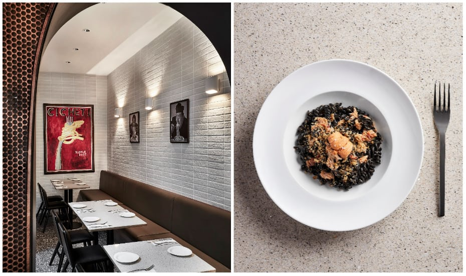 New restaurant Bar Cicheti and its fusili nero squid ink pasta