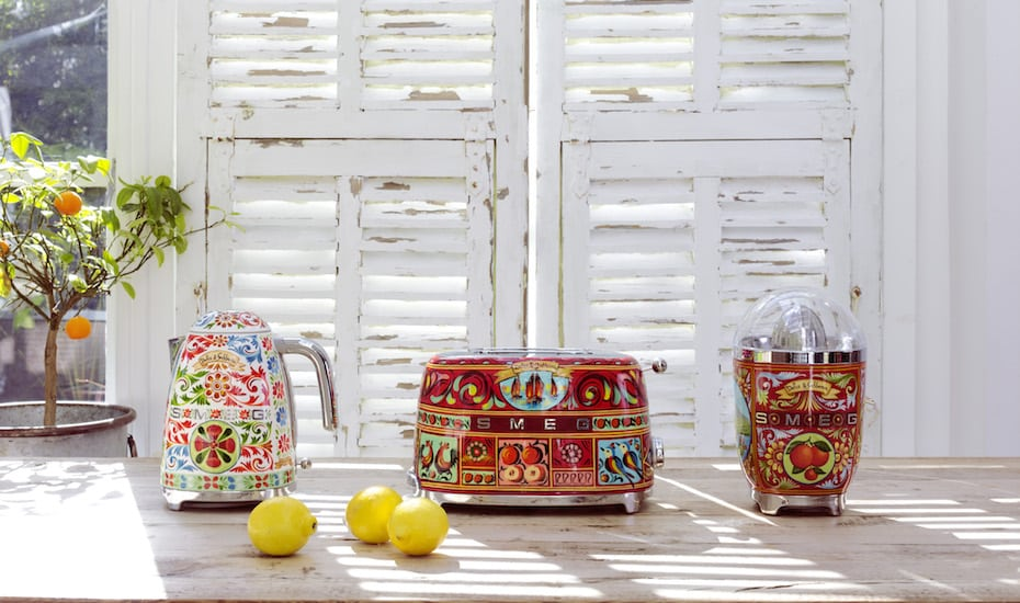 A work of art doesn't have to belong on a wall – the latest Dolce&Gabbana x Smeg collaboration make beautiful kitchen appliances a thing