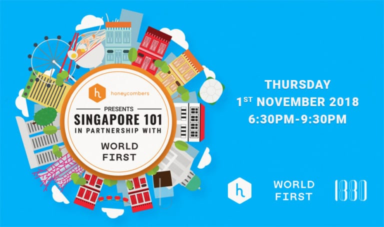 New in town? Join us at Singapore 101 over cocktails and canapes at members' club 1880