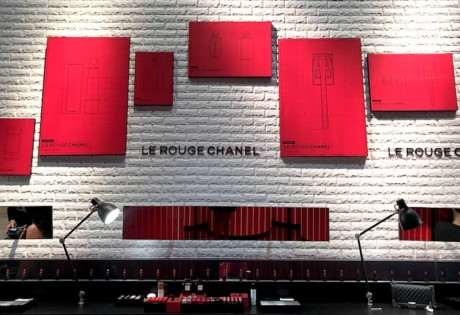 Chanel Le Rouge beauty pop-up | Chanel popup