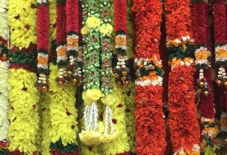 Deepavali decorative garlands at Little India's festival market
