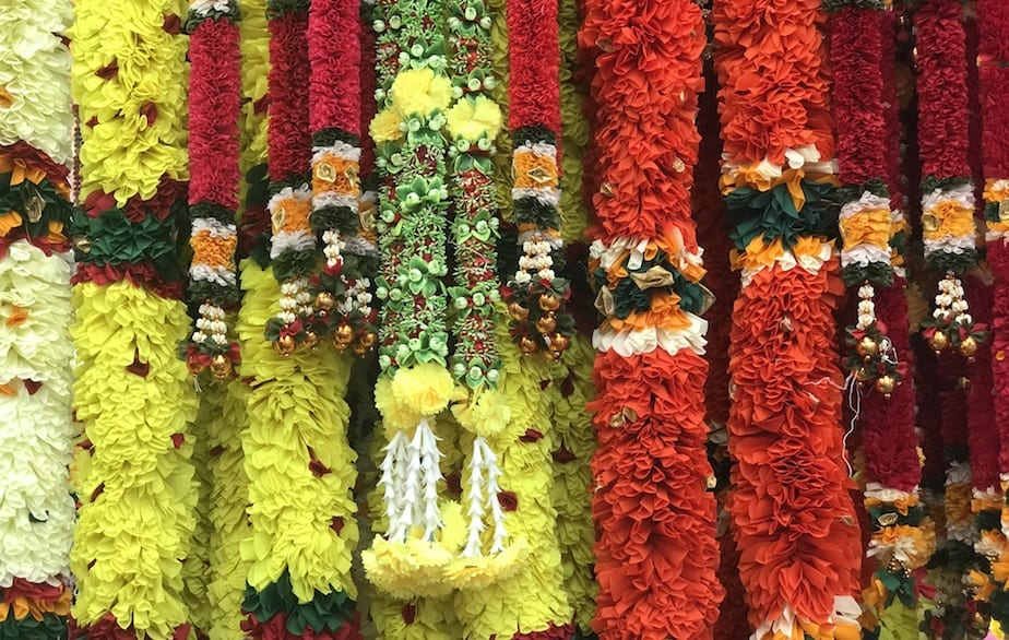 Deepavali decorative garlands at Little India's festival market
