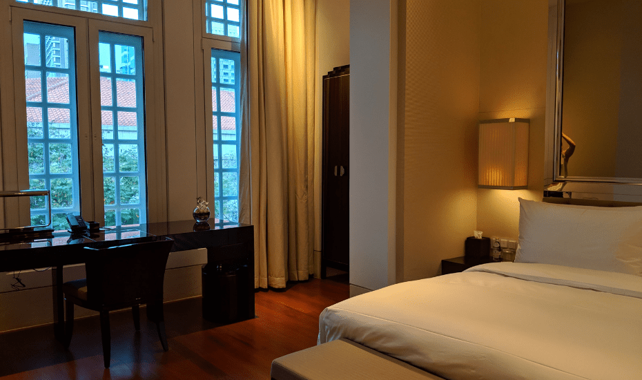 A look at the rooms and windows at The Capitol Kempinski Hotel Singapore