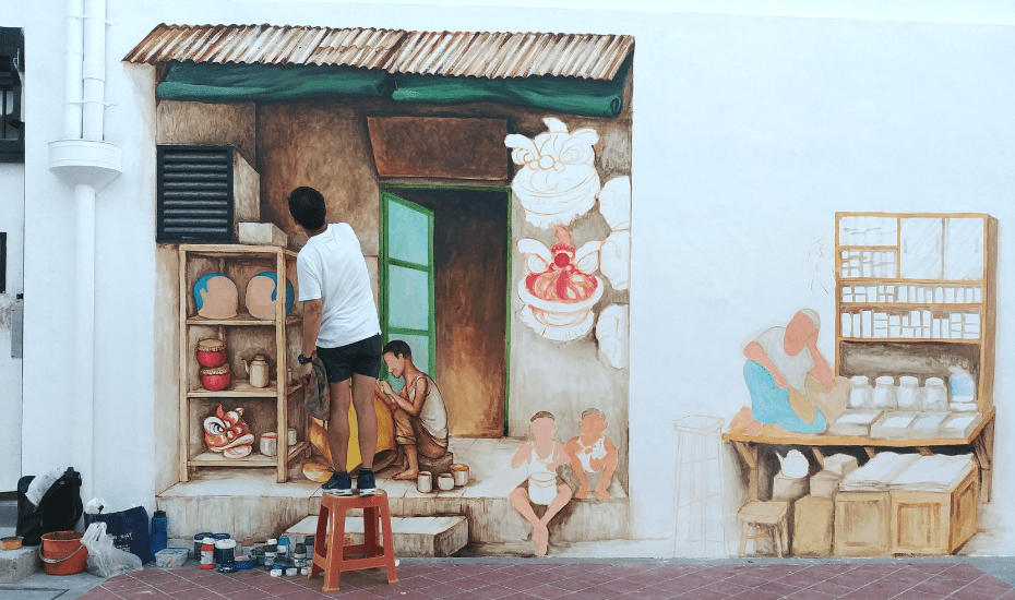 Yip Yew Chong is one of Singapore's most famous street artists | Yip Yew Chong creates amazing murals across Singapore