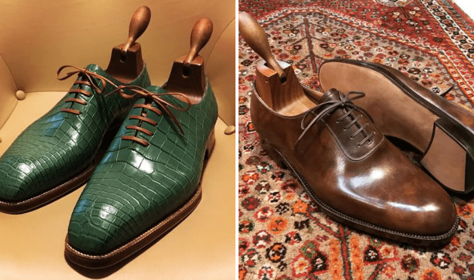 He trained in Italy with master shoemaker Angelo Imperatrice in Florence in over 100 different techniques to create classic, bespoke handmade shoes