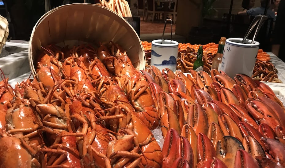 Melt Cafe's Christmas buffet includes an incredible seafood spread with lobsters on ice