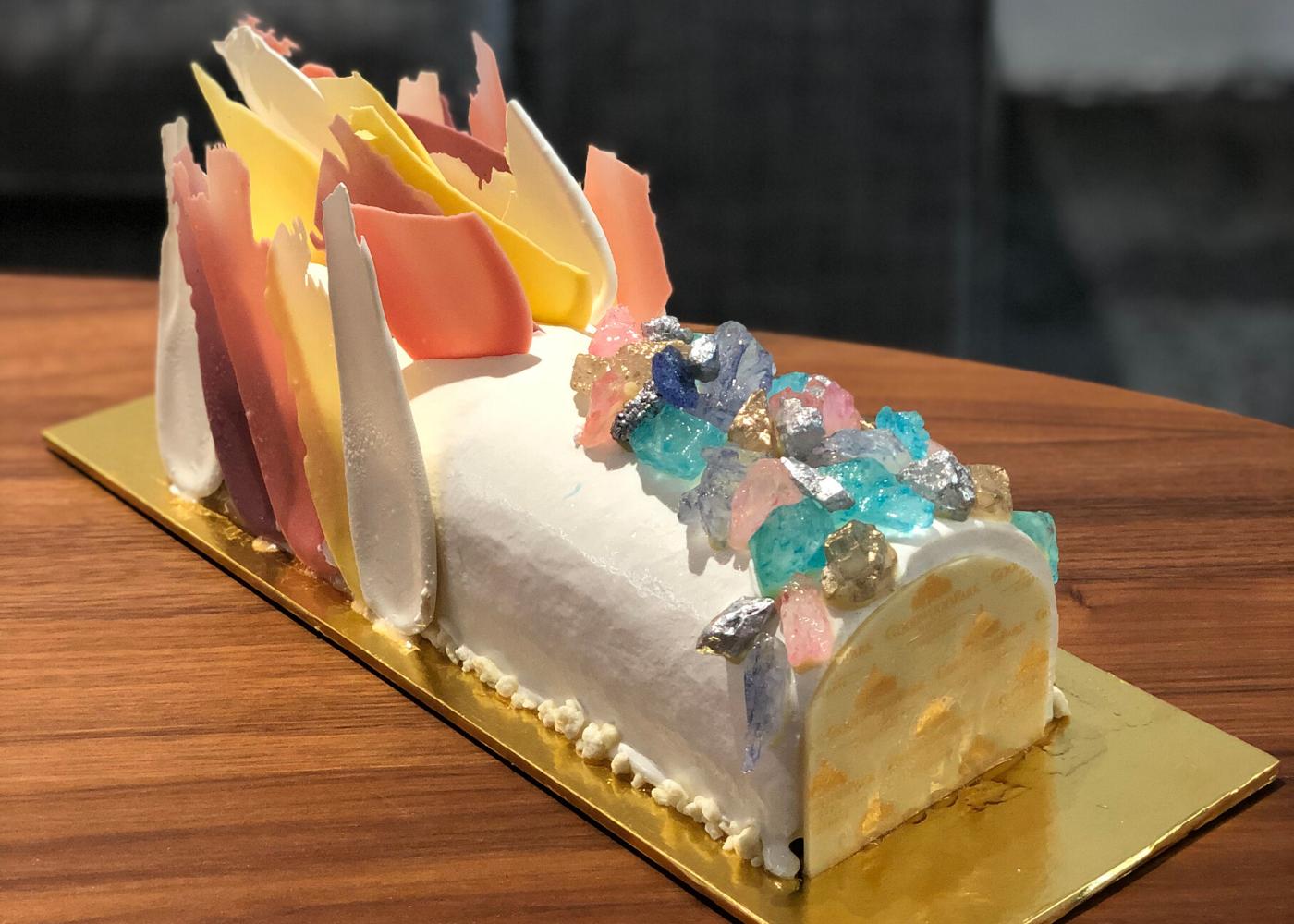Crystal glacier Christmas cake