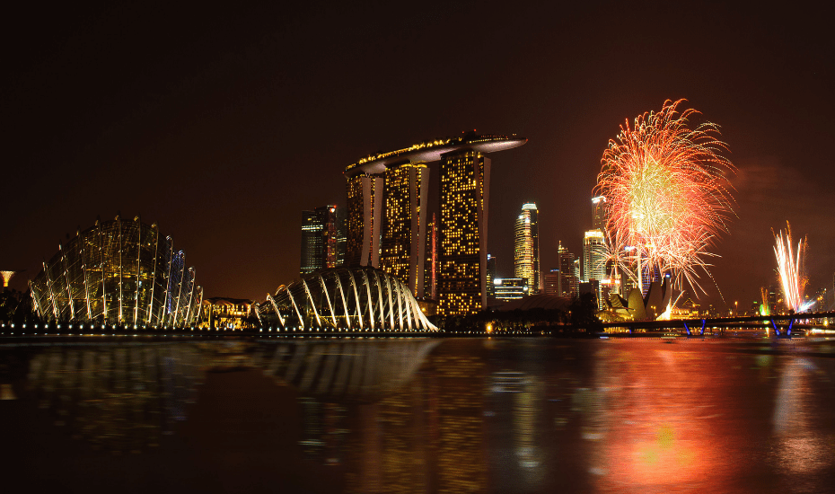 Find yourself a perch to look Marina Bay Singapore Countdown 2019 complete with the hour-long fireworks.