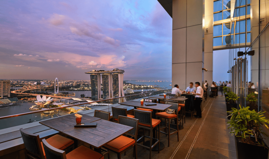 Book yourself the best seats in the house overlooking the Marina Bay Singapore Countdown at Level 33