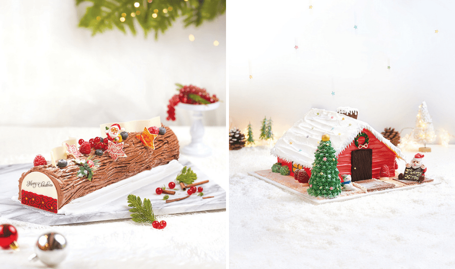 PrimaDeìli's classic X'mas logs with adorable decoration that are bound to get some 'awwwwww's when you bring it home.