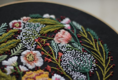 Embroidery Workshop with Naked.Works at Crate and Barrel's Christmas Workshop Wonderland.
