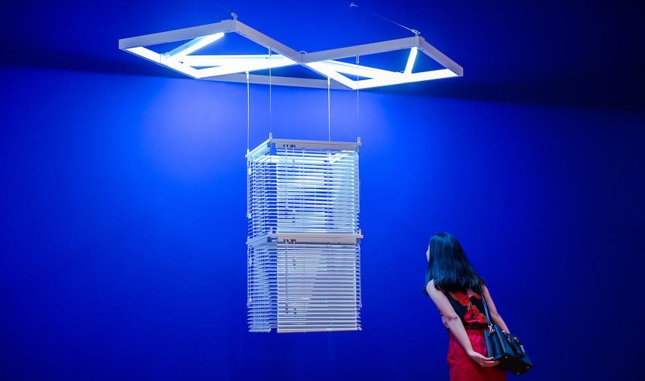 Haegue Yang Sol LeWitt Upside Down minimalism exhibit national gallery artscience museum