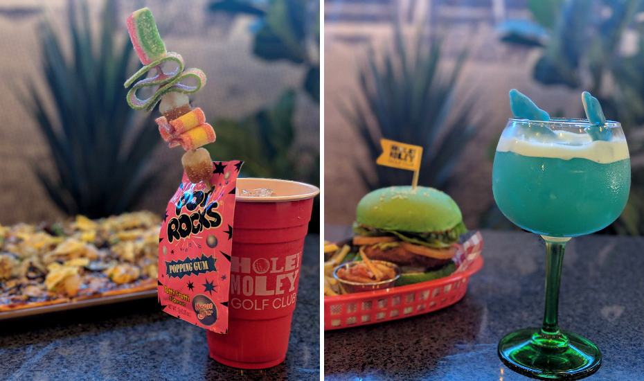 You know what makes a wacky mini golf place extra fun? Postively quirky cocktails and food.