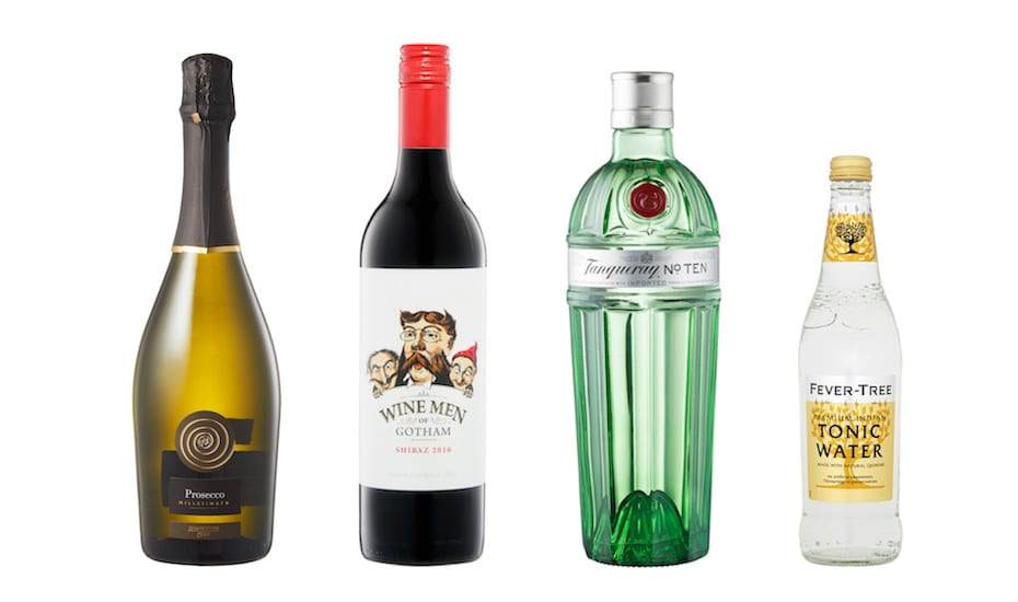 Great deals at Warehouse Club on Prosecco, Shiraz, Tanqueray No.10 and Fever Tree tonic