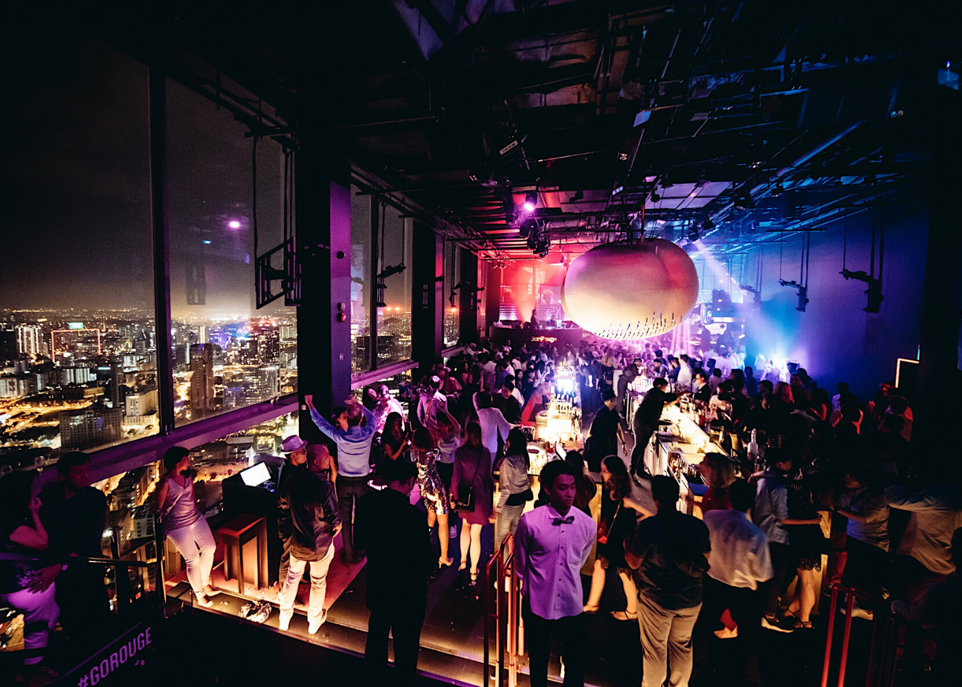 Where to watch fireworks in Singapore: Bar Rouge