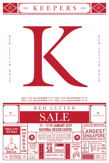Keepers Red Letter Sale