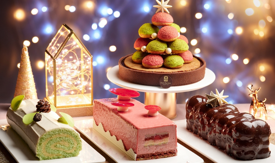 Log cakes and gourmet roasts: Let the festive feast begin at Pan Pacific Singapore