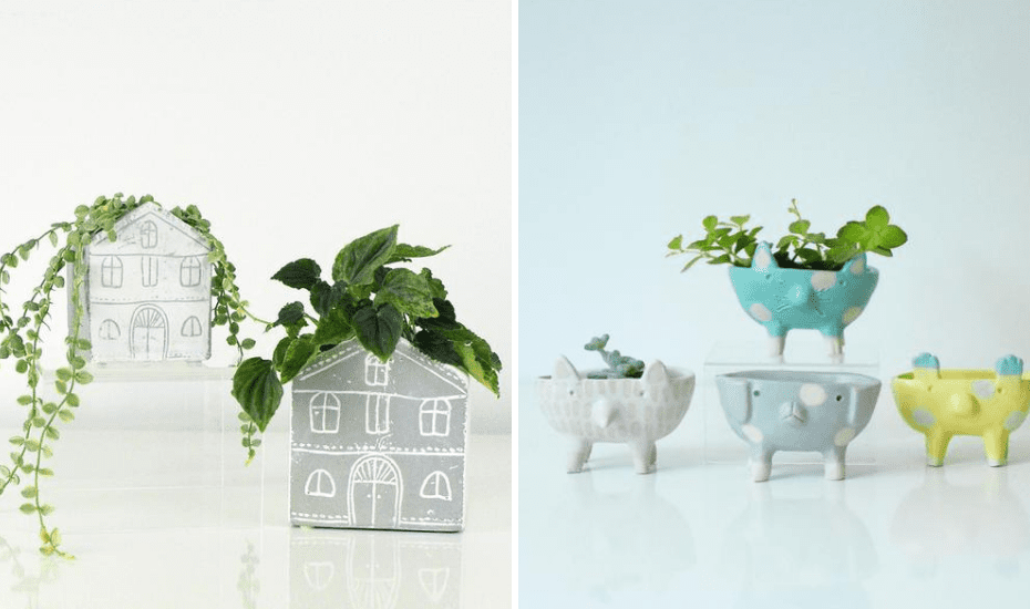 Indoor plants are all the rage and if you've got a pal/ cousin with a green thumb, they will love you for these quirky planters.