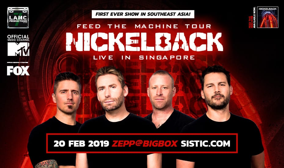 Nickelback – Feed The Machine Tour // First Time Live in Singapore!