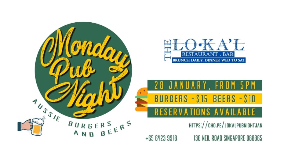 The Lokal Monday Pub Night: Aussie Burgers & Beers