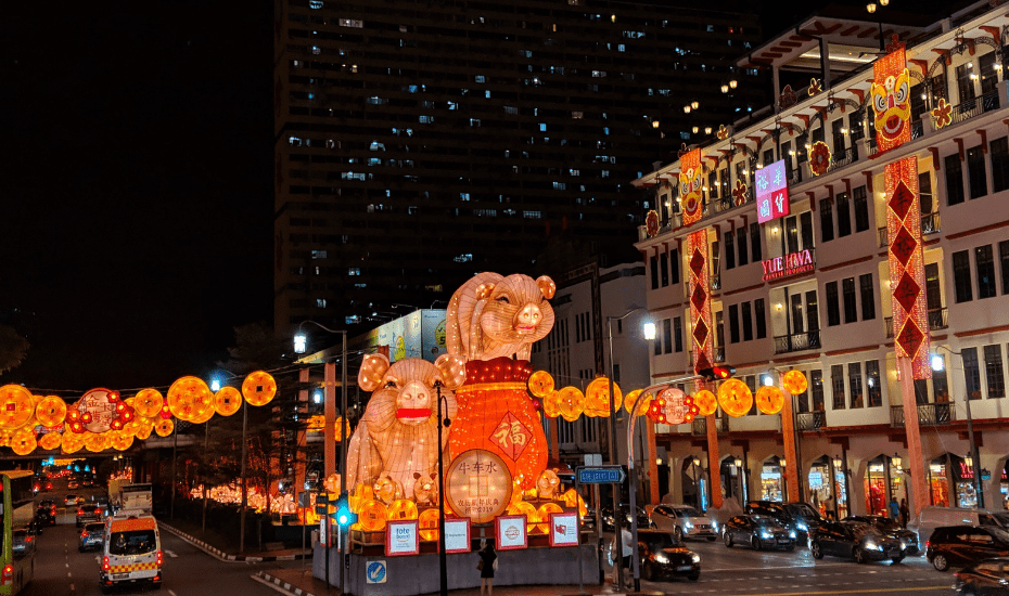 Chinese New Year 2019 light up at Chinatown, Singapore