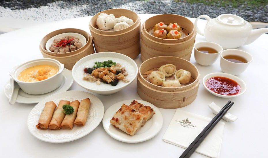 Weekday dim sum set lunch menu at Min Jiang