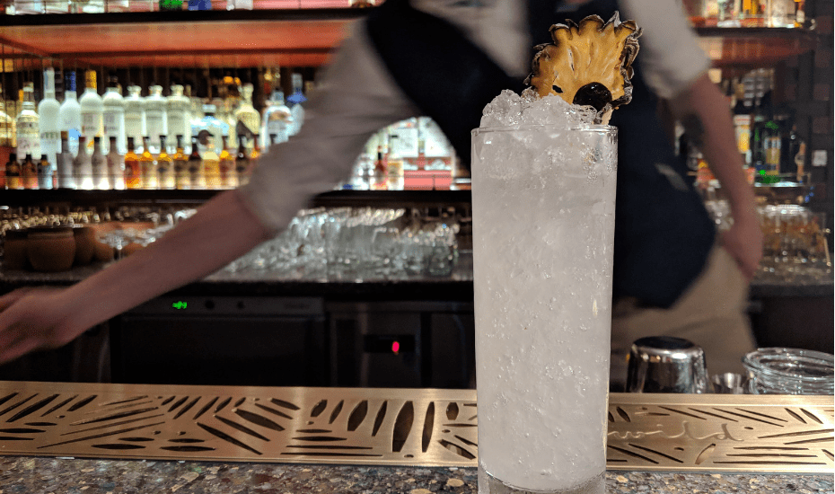 Open that little passport-esque menu at Idlewild to find 20 artfully created cocktails inspired by 10 cities along the Transatlantic Route.
