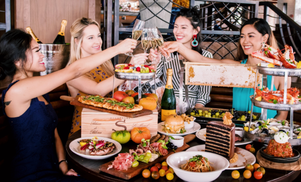 Brunch at LAVO is about free-flow drinks, DJs and a view