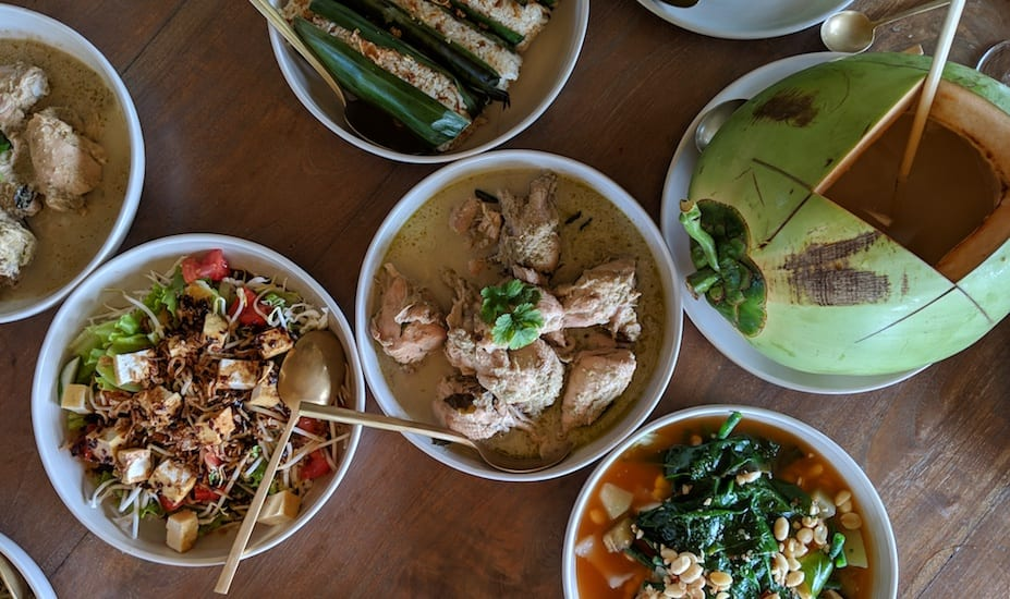 Authentic Indonesian dishes at Cempedak Private Island