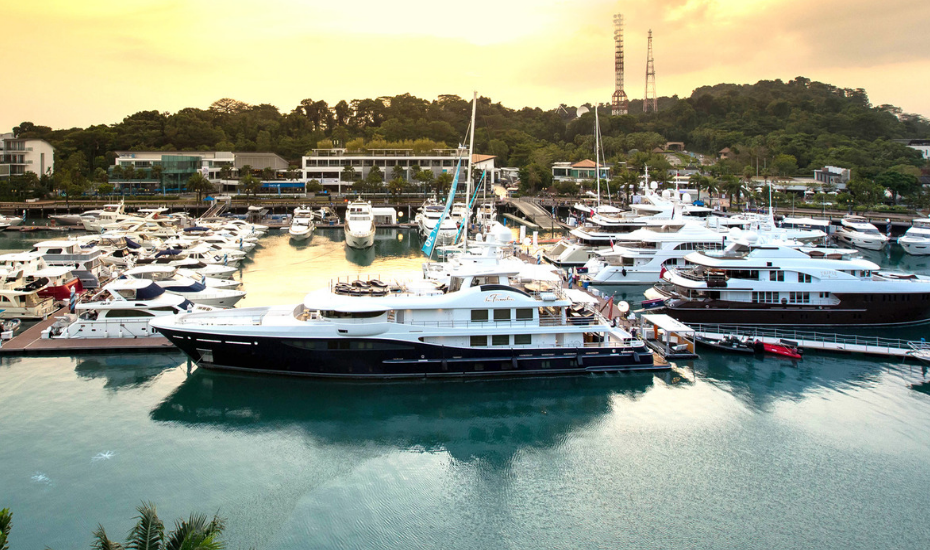 The exclusive private members club One°15 Marina Club is located at Sentosa Cove, Singapore's prime leisure district