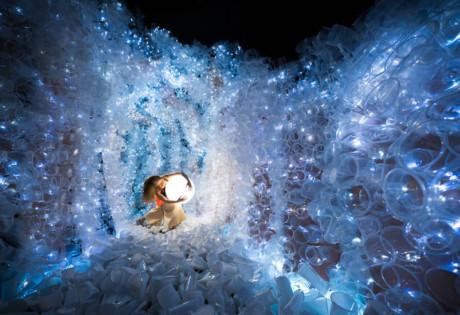 Plastikophobia art installation using plastic cups Von Wong