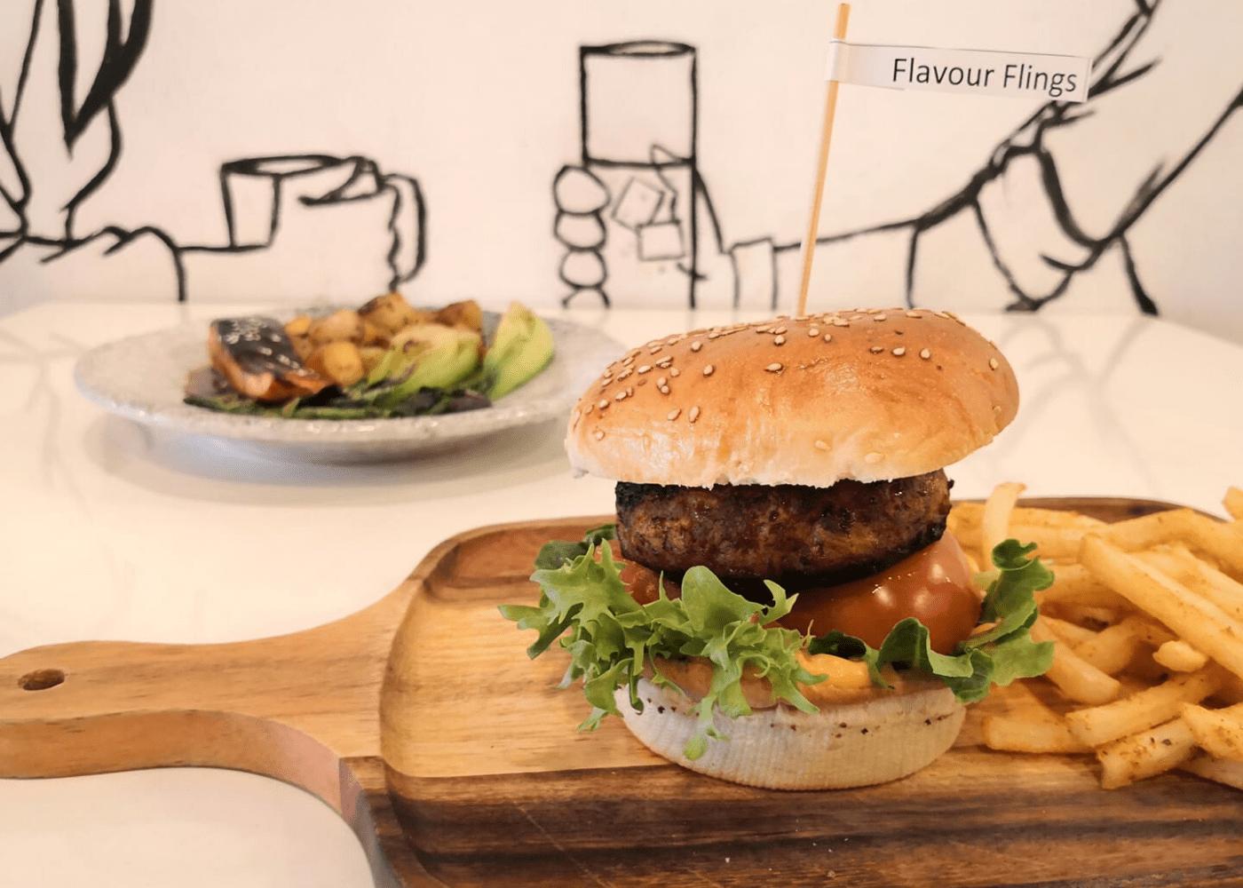 flavour flings | burgers | halal restaurants and cafés in Singapore