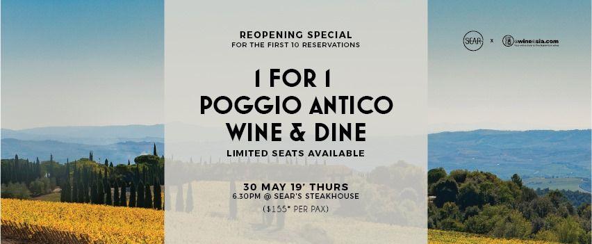 Poggio Antico Wine & Dine