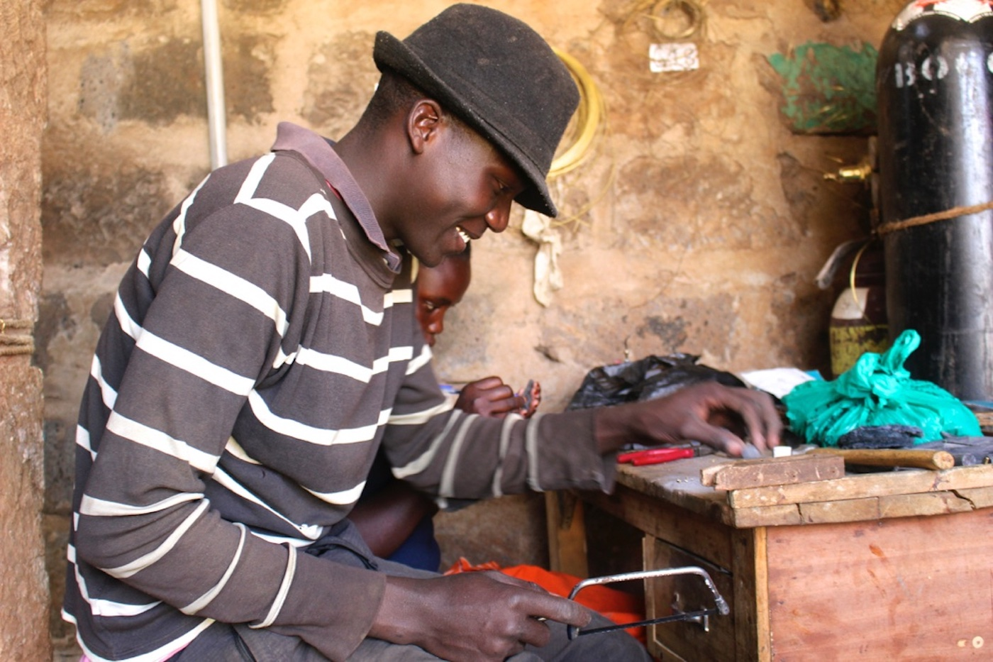 An artisan at work in Kenya: Ashepa Lifestyle jewellery is handmade by workers who receive a fair wage