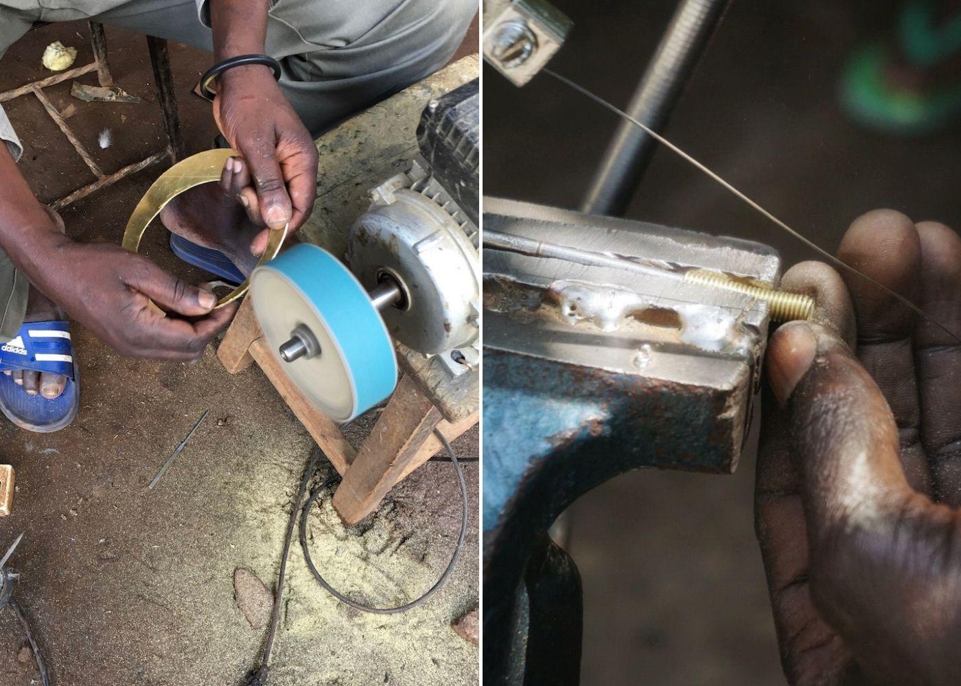 Artisans in Kenya working on jewellery for Ashepa Lifestyle