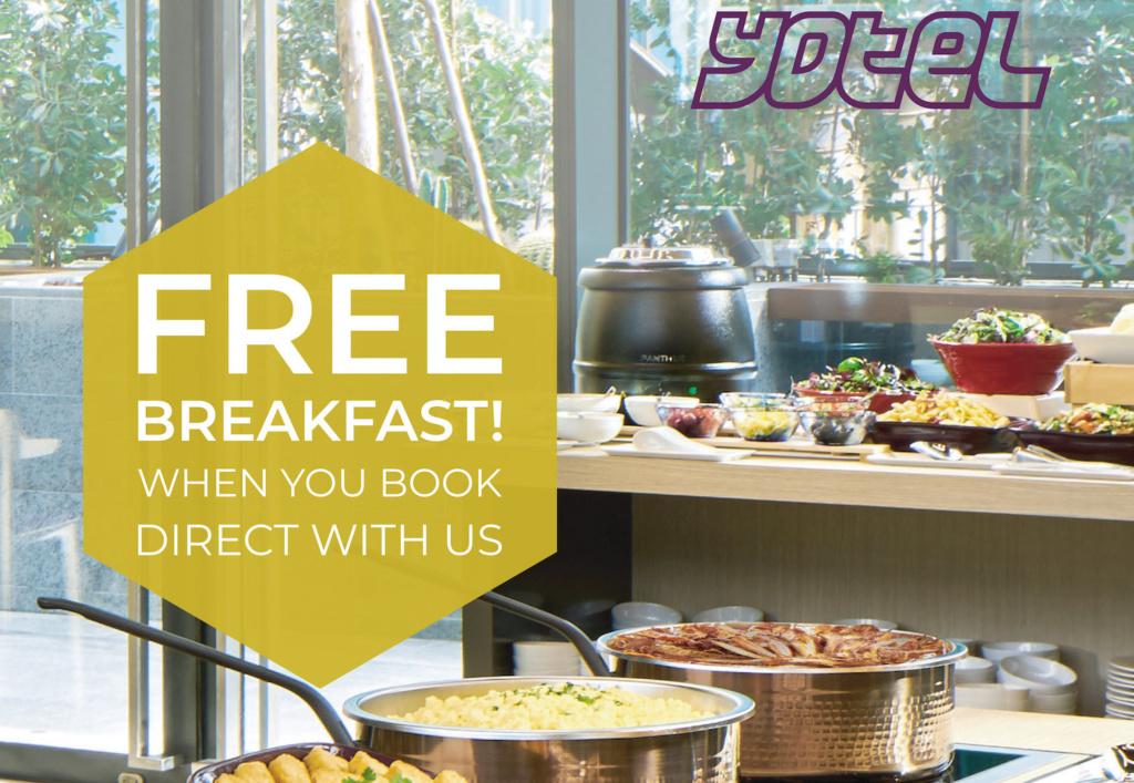 FREE Breakfast at YOTEL Singapore!