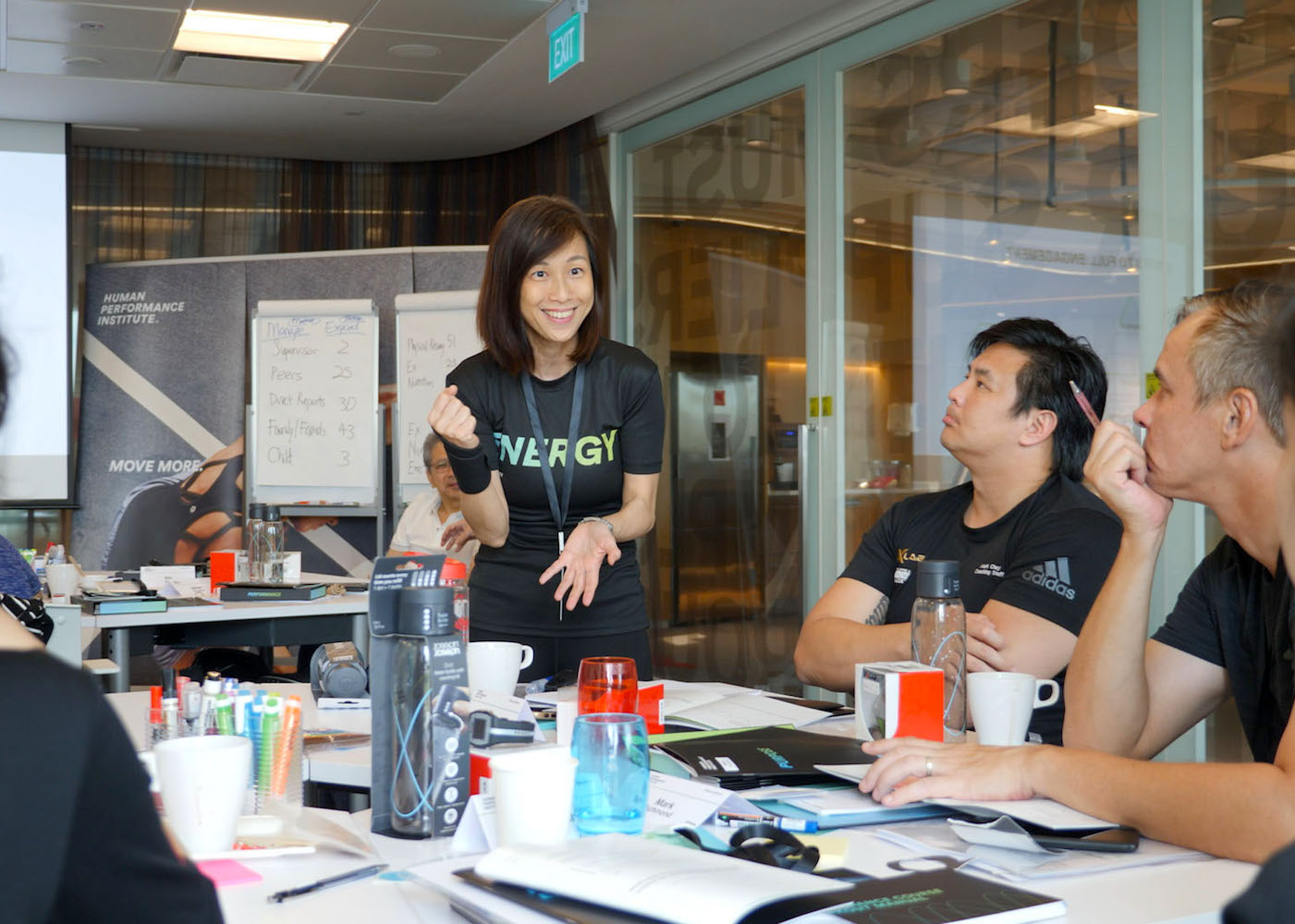 Coach Wai Yee Chan of the Human Performance Instituteencourages course participants to dig deeper and identify their purpose.