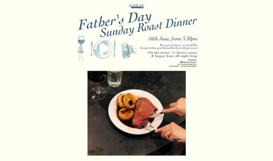 Father's Day Sunday Roast Dinner