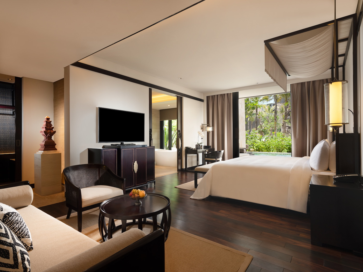 Grand Deluxe suite with lagoon view at Apurva Kempinski Bali