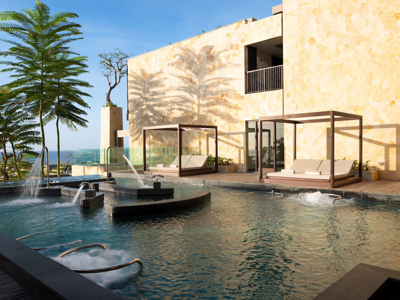 Hydrojet pool at Apurva Kempinski luxury resort Nusa Dua Bali