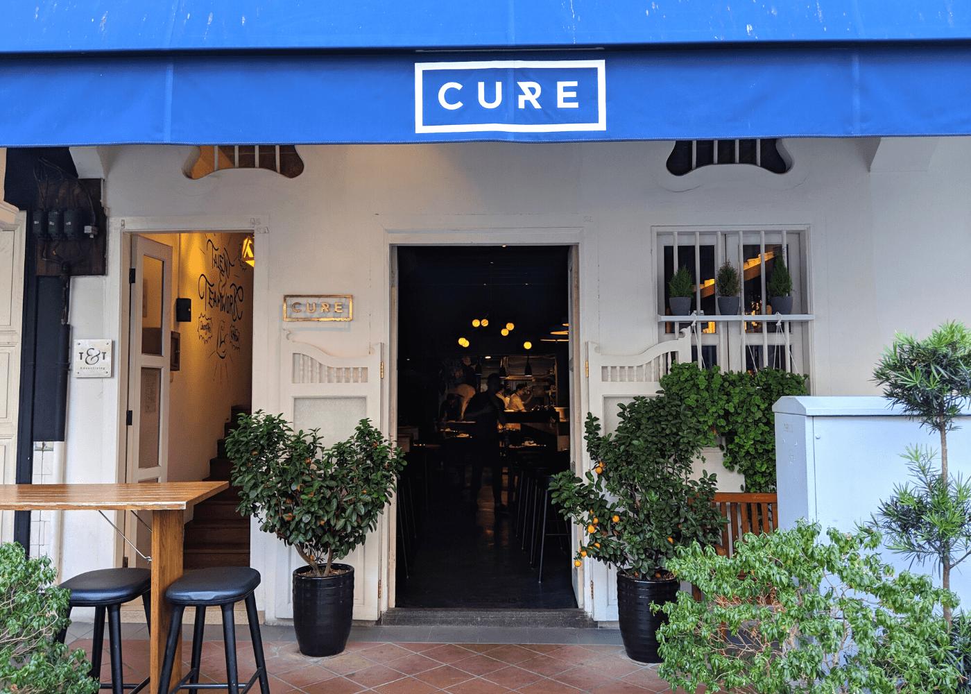 Cure restaurant at Keong Saik