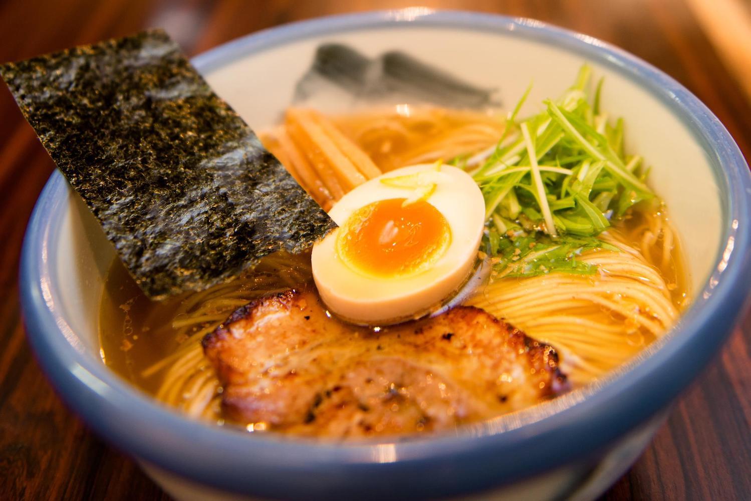 Best ramen in Ebisu Tokyo: Afuri is famous for its yuzu broth.
