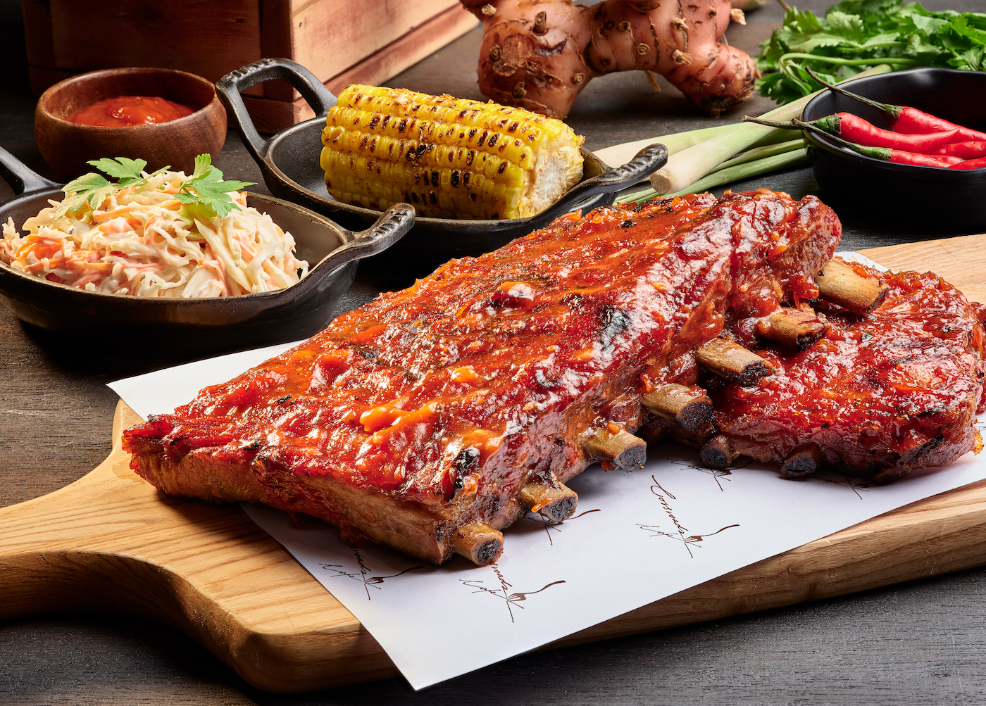 Baby back ribs at Crossroads Cafe | Things to do in July 2019