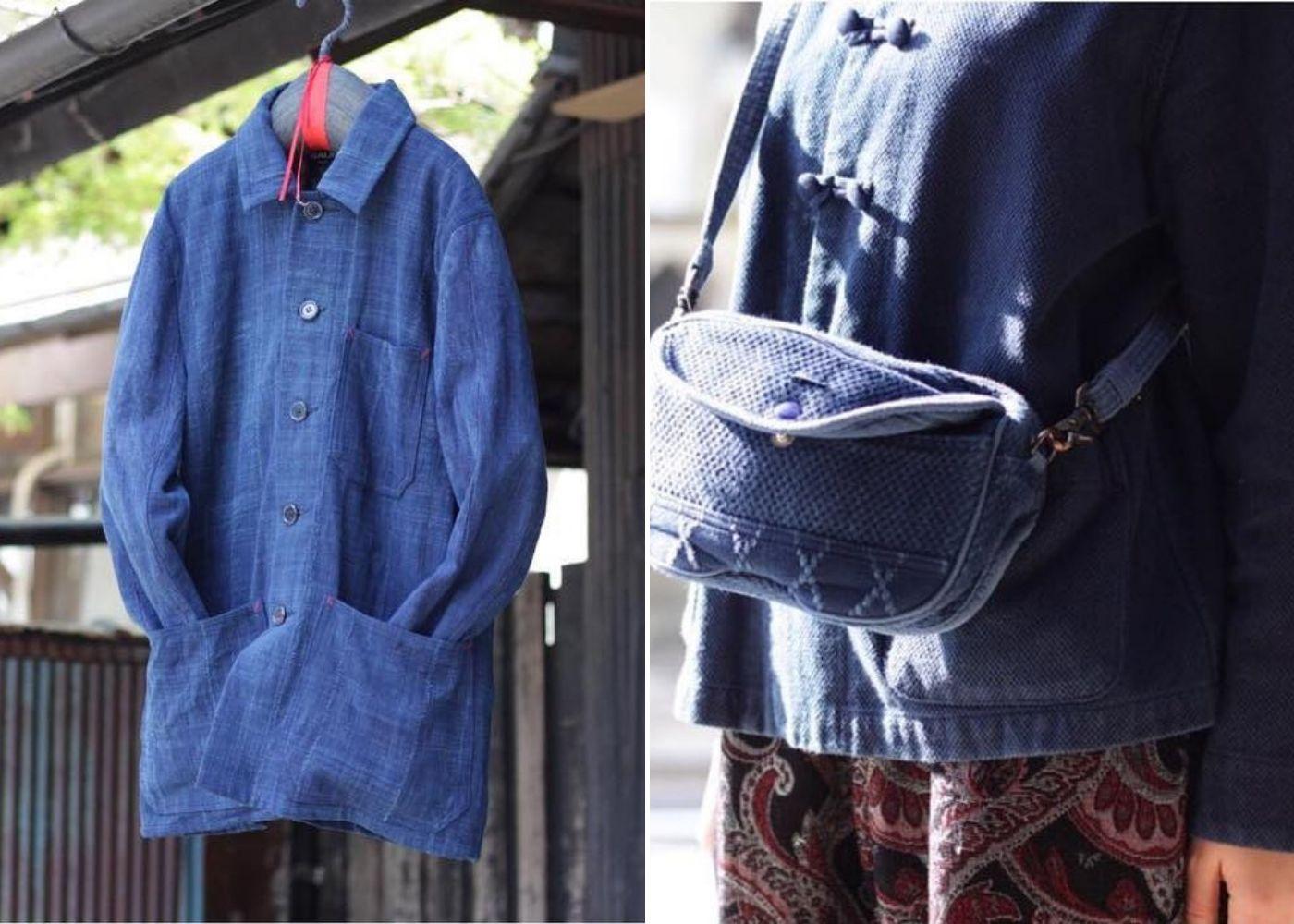 Where to go shopping in Ebisu Tokyo: indigo dyed clothing at Okura