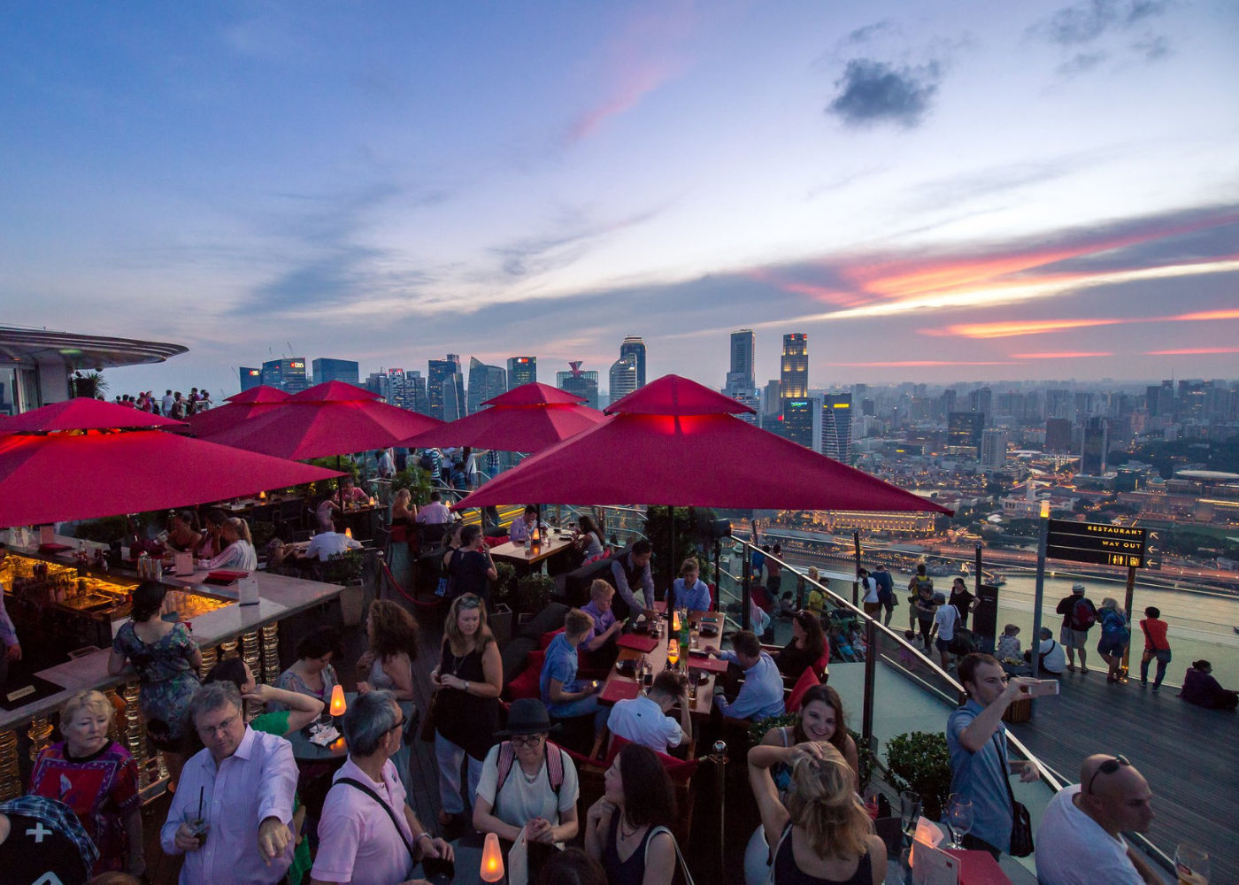Cé La Vi rooftop bar Marina Bay Sands hotel