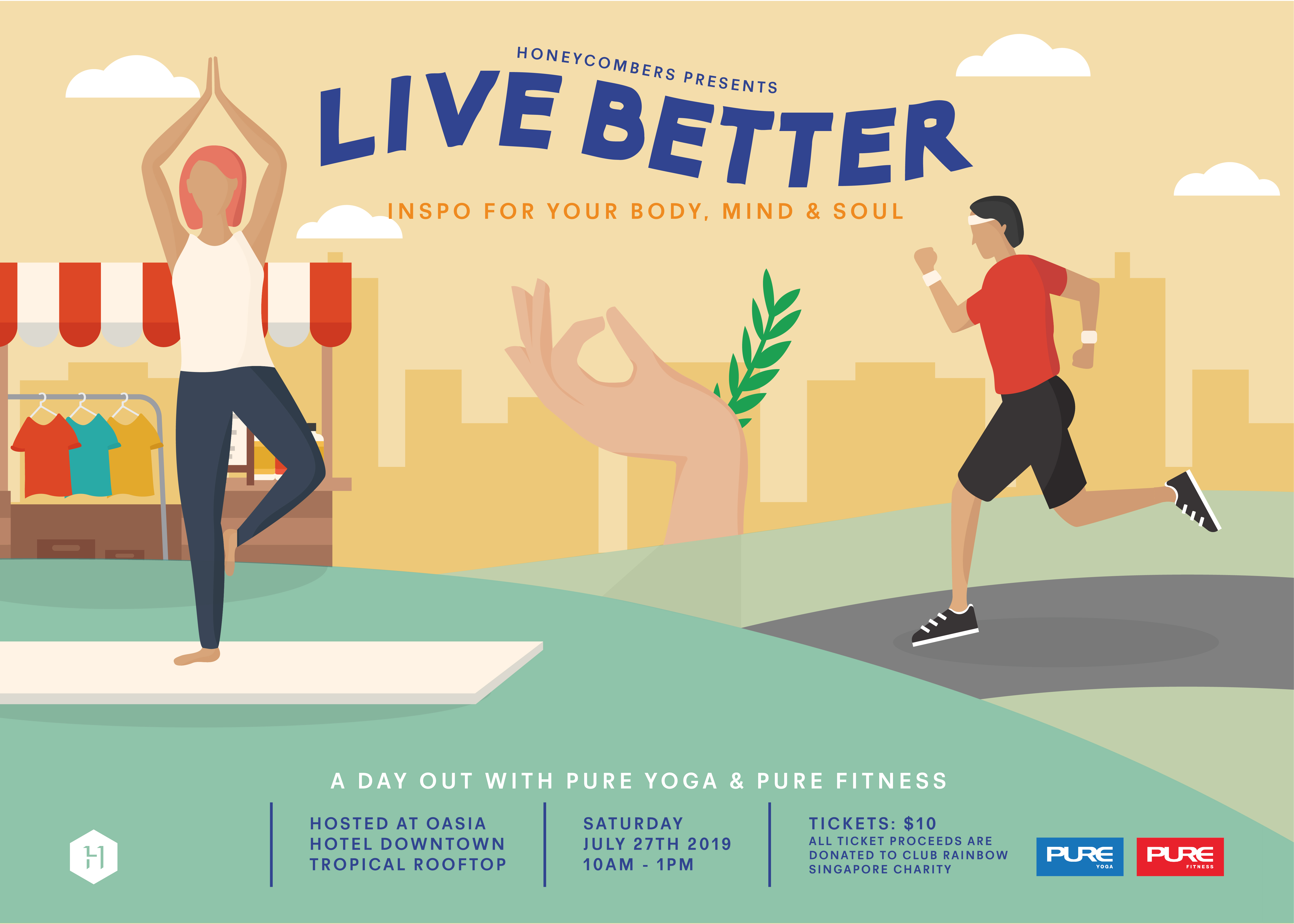Live Better: a day of fitness, wellbeing workshops and conscious shopping with Pure Yoga & Pure Fitness